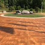 Stained Concrete Monument Floor
